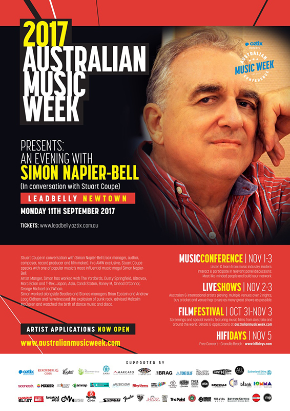 AMW Presents: An Evening With Simon Napier-Bell  - blog post image