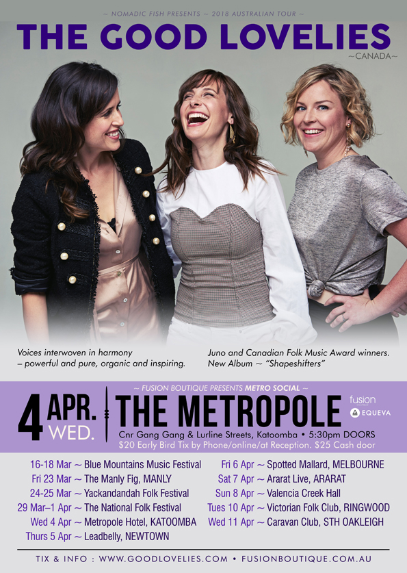 'The Good Lovelies' share the love, live @ The Metro - blog post image